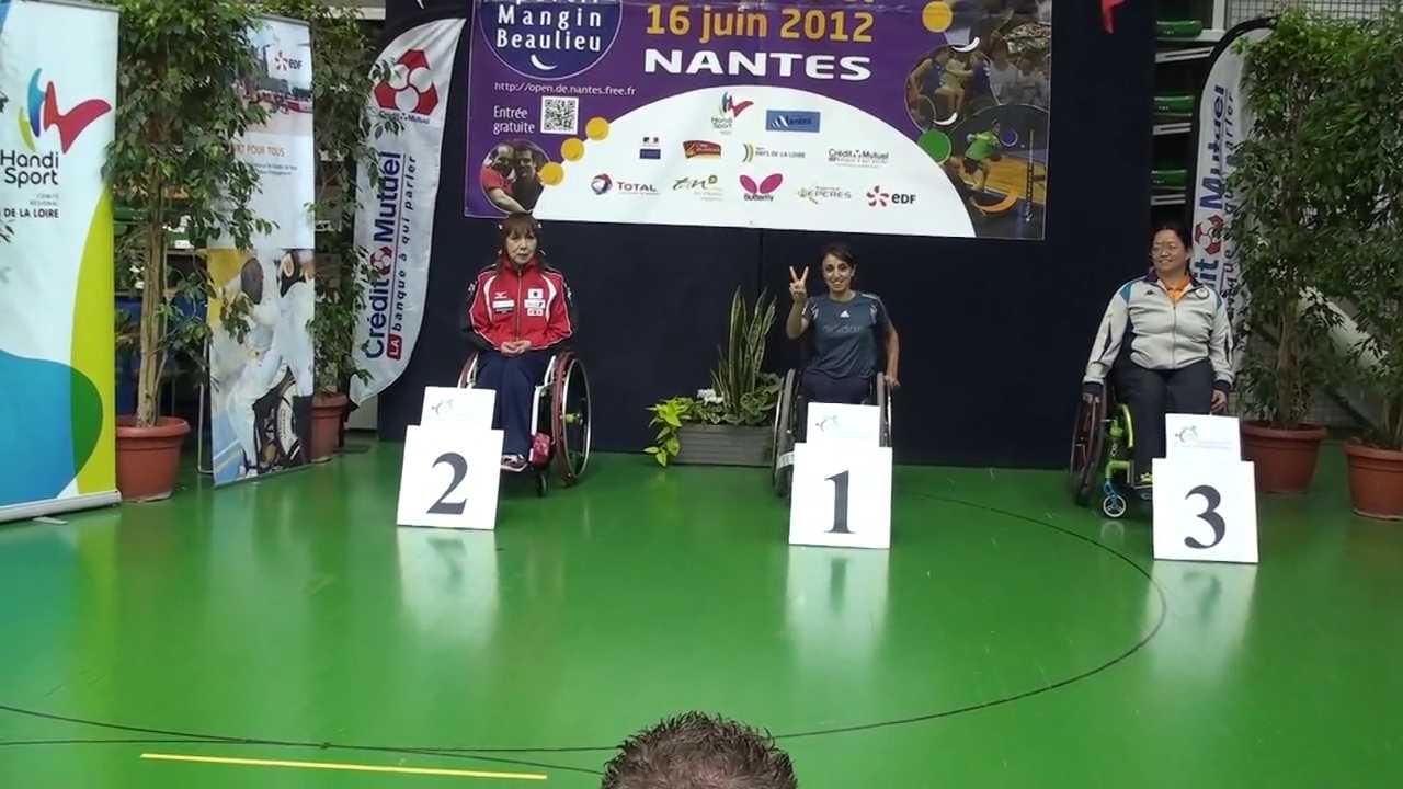 15/6/2012 (France) Nantes, 2nd French Open 2012-Bronze Women\'s Single class 5