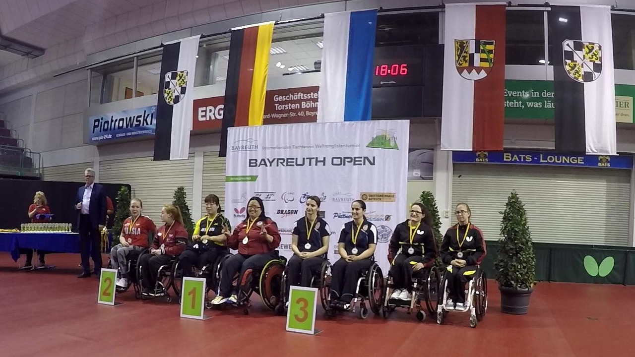 18/6/2017 Bayreuth (Germany) Bayreuth Open Medal ceremony for my Gold Medal at Women\'s Teams class